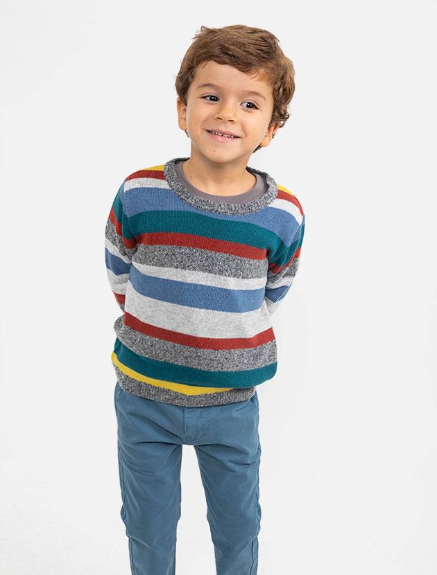 Knot kids FW18 | Camisola Scandic stripes