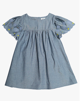 Knot Kids | Vestido chambray bordado