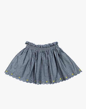 Knot Kids Zulu | Saia Chambray Bordada