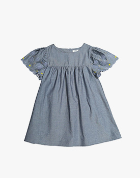 Knot Kids Zulu | Vestido Chambray Bordado