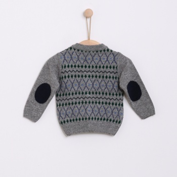 Casaco tricot jaquard