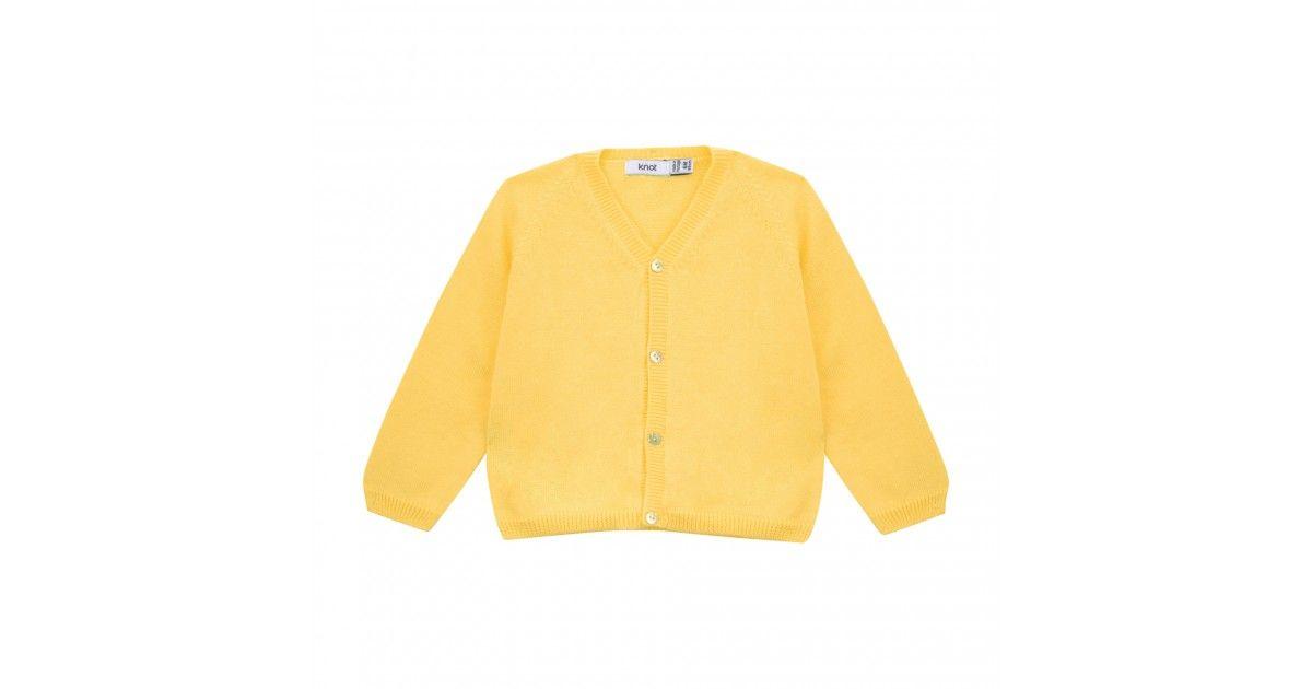 Casaco Tricot Limelight Yellow Bebé Menina Knotkids